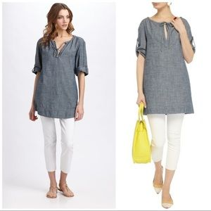 Tory Burch 'Lyot' Chambray Tunic